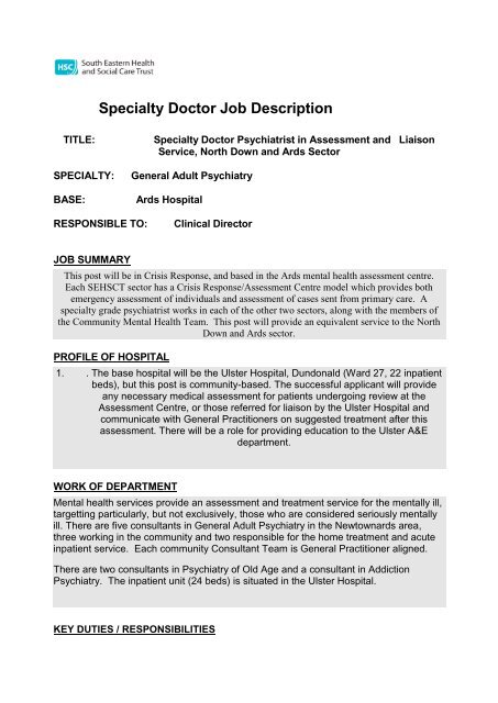 job responsibilities of a doctor