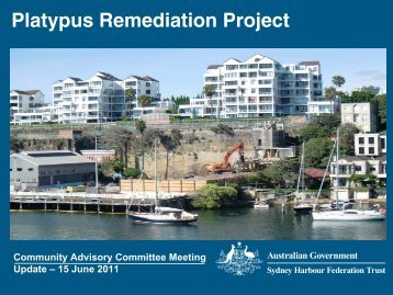 Presentation Slides - 15 June 2011 - Sydney Harbour Federation Trust