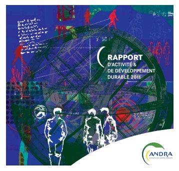 Rapport d'activité et de développement durable 2011 (PDF ... - Andra
