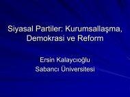 Siyasal Partilerin Kurumsallaşması ve Reform - EAF
