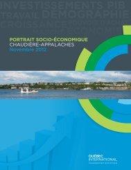 Portrait socio-économique - Chaudière-Appalaches - Québec ...