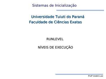 RunLevel - Gerds - Universidade Tuiuti do Paraná