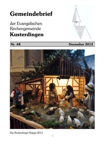 Gemeindebrief 12/2012 - Evangelische Kirchengemeinde ...