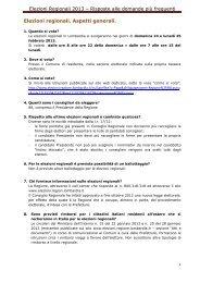 Elezioni Regionali 2013 – Risposte alle ... - L'Eco di Bergamo