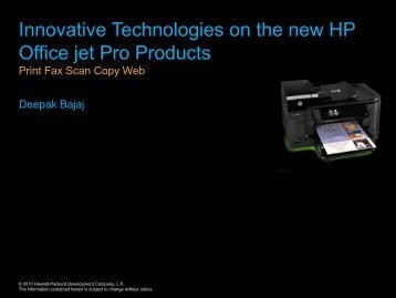 Innovative Technologies on the new HP Office jet Pro ... - eGovReach
