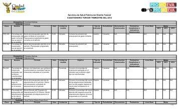 Cuestionario 3er Trimestre 2012