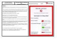 Arbeitsgrundlage Brandschutzordnung - Feuerwehr Dinslaken