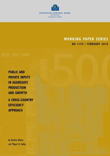 working paper series no 1154 / february 2010 - Ecomod Network