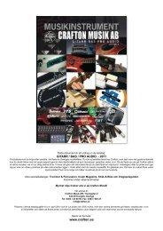 Plektrum, underhåll, sliderör & gitarrstativ - Crafton Musik AB