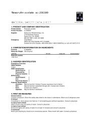 1. product and company identification 2. composition/information on ...