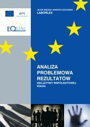 Analiza Problemowa Rezultatów Inicjatywy Wspólnotowej EQUAL