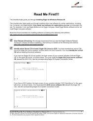 Read Me First Software Checklist - Eagle for Windows Release 20