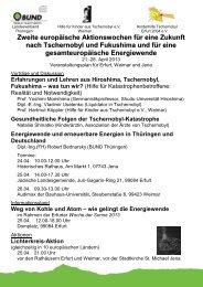 Tschernobylwoche TH 2013 1x1 - BUND e.V. Landesverband ...