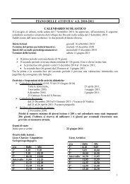 piano delle attivita' as 2010-2011 calendario scolastico - Liceo Platone