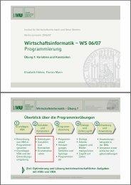 Wirtschaftsinformatik – WS 06/07 Programmierung - Institut für ...