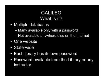 GALILEO What is it?