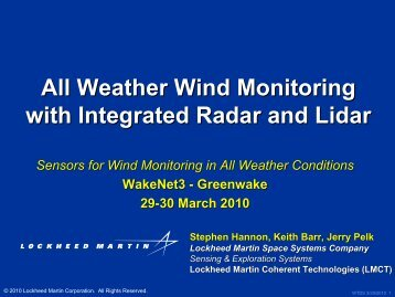 Weather Wind Monitoring with Integrated Radar and Lidar - WakeNet