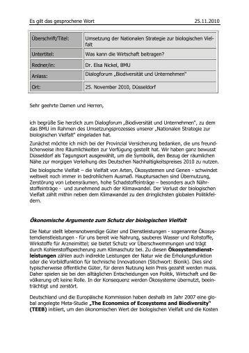 Dr. Elsa Nickel - Biodiversität - schützen.nutzen.leben