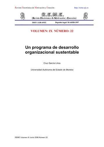 Un programa de desarrollo organizacional sustentable - Revista ...