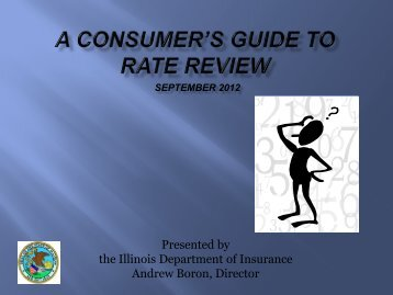 A Consumer's Guide to Health Insurance Rate Review in Illinois
