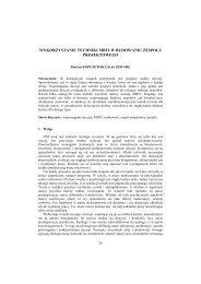 Wykorzystanie techniki MBTI w budowaniu zespołu ... - PTZP