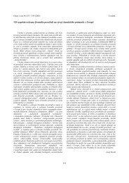 Vliv aspektů ochrany šivotního prostředí na vðvoj ... - Chemické listy