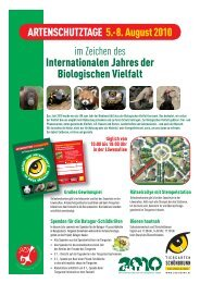 Programmheft - Tiergarten Schönbrunn