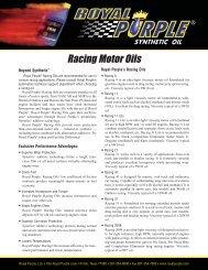 Royal Purple Racing Oil - Dali Racing