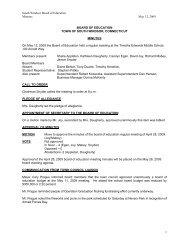 May 12, 2009 - South Windsor Public Schools