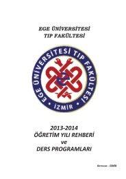 2013-2014 Eğitim Öğretim Yılı Ders Programı - Ege Üniversitesi