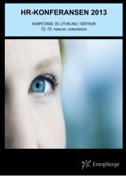 Velkommen til HR-konferansen 2013 - Energi Norge
