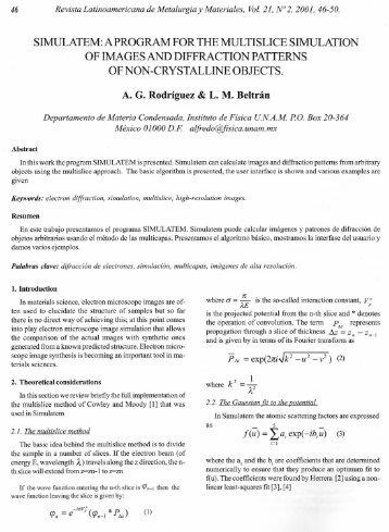 SIMULATEM: APROGRAM FOR THE MULTISLICE SIMULATION OF ...