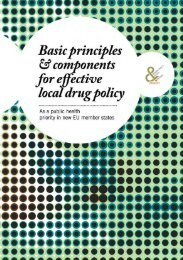 Basic principles & components for effective local drug policy