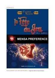 MENSA PREFERENCE - La Fête du Jeu