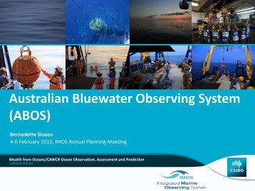 Australian Bluewater Observing System