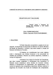 PROJETO DE LEI Nº 7.262, DE 2002 Dispõe sobre o Estatuto de ...