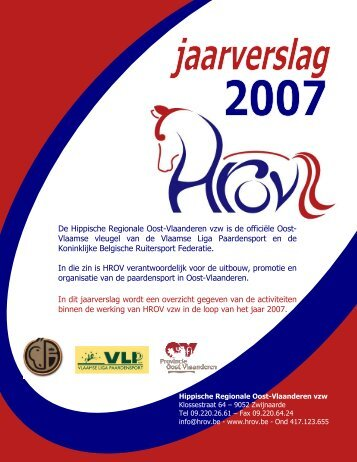 Jaarverslag werking 2007 - HROV