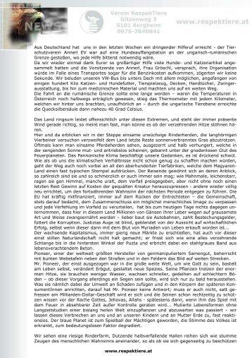 Bitte lesen Sie den ganzen Bericht HIER - RespekTiere