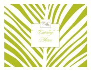 View Catering Menus & Policies - The Palms