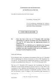 CSSF Circular 11/498 of 10 January 2011 - Elvinger, Hoss & Prussen