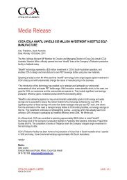 Media Release - Coca-Cola Amatil
