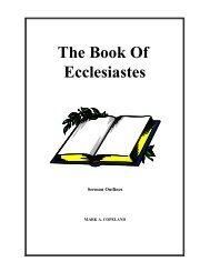 Ecclesiastes - Sermon Outlines - Executable Outlines