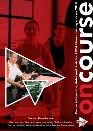 Course information, dates and costs for YMCA ... - Plymouth YMCA