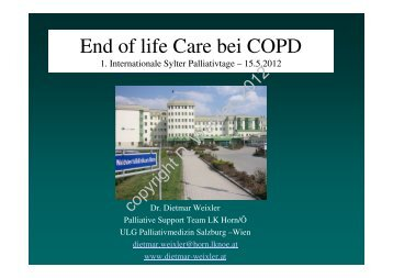 End of life Care bei COPD - Palliativtage-sylt.de
