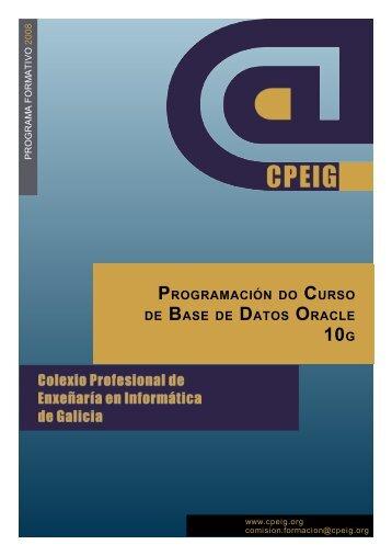 Programación do Curso de Base de Datos Oracle 10g