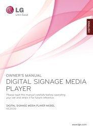 DIGITAL SIGNAGE MEDIA PLAYER - LG B2B