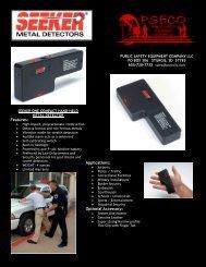 seeker metal detector brochure - Public Safety Equipment Company ...