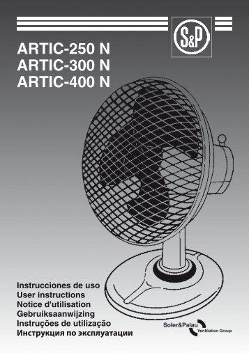 ARTIC-250 N ARTIC-300 N ARTIC-400 N - Soler & Palau