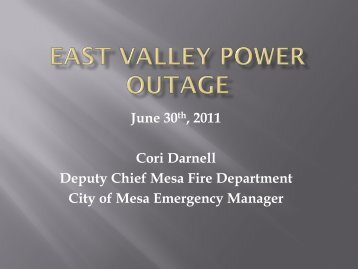 East Valley Power Outage - AESA
