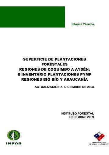 SUPERFICIE DE PLANTACIONES FORESTALES ... - Inicio